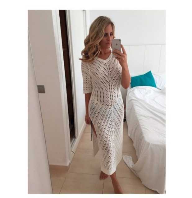 TOWIE star Danielle Armstrong shows off her clothing collection for Miiaan on holiday in Ibiza, 22 August 2016