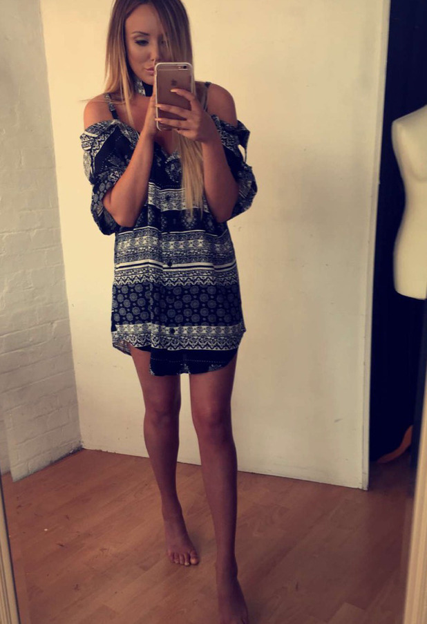 Former Geordie Shore star Charlotte Crosby shows off her new In The Style collection, Instagram and Snapchat, 22nd August 2016