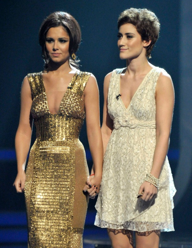 'The X Factor' TV Programme, Results Show Live, London, Britain - 28 Nov 2010 Judge Cheryl Cole and Katie Waissel