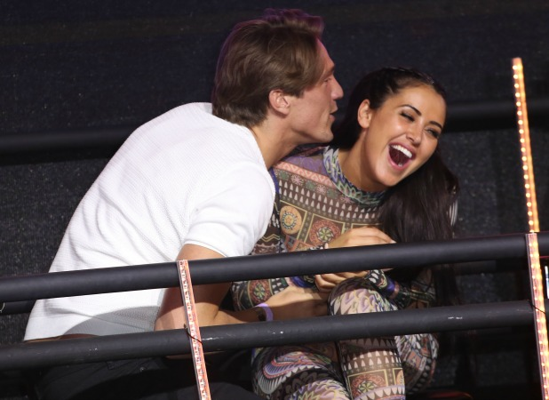 Marnie Simpson and Lewis Bloor at CBB Final 26 August 2016