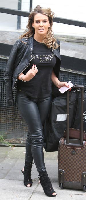 Danielle Lloyd spotted outside the Loose Women studios in London, 1 September 2016