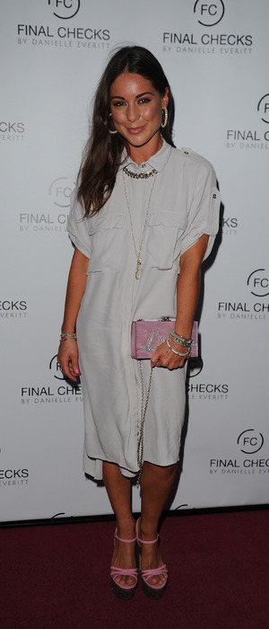 Made In Chelsea star Louise Thompson attends the Final Checks salon opening in Hornchurch, Essex, 2 September 2016