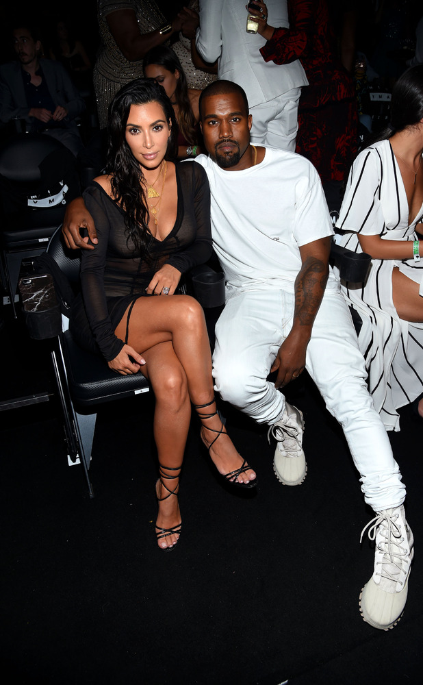 Kim Kardashian and Kanye West attend the 2016 MTV Music Video Awards at Madison Square Garden on August 28, 2016 in New York City.