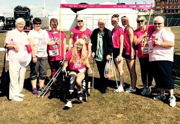 Natalie Turner taking part in Race for Life