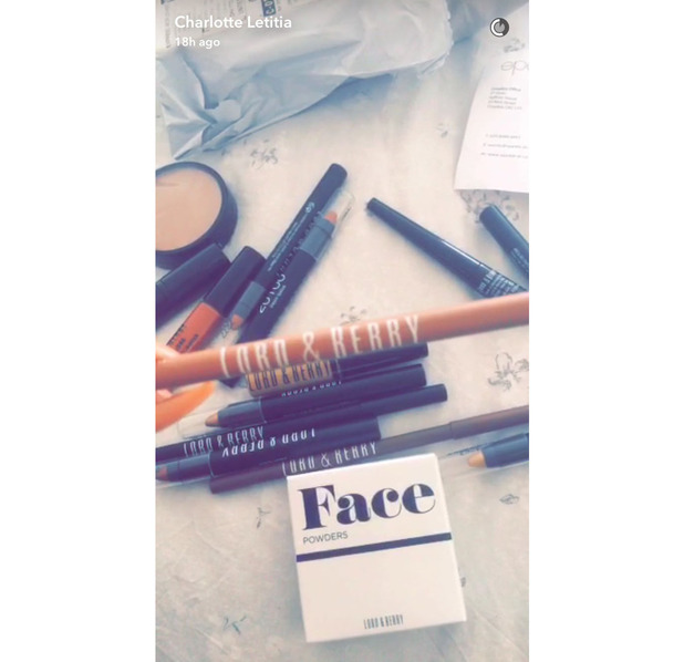 Former Geordie Shore star Charlotte Crosby shares a clip of her make-up haul on Snapchat, Lord & Berry, 31 August 2016