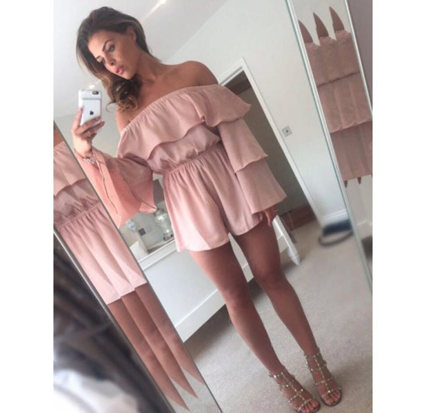 TOWIE's Chloe Lewis wears Missy Empire playsuit on holiday in Croatia, 1 September 2016