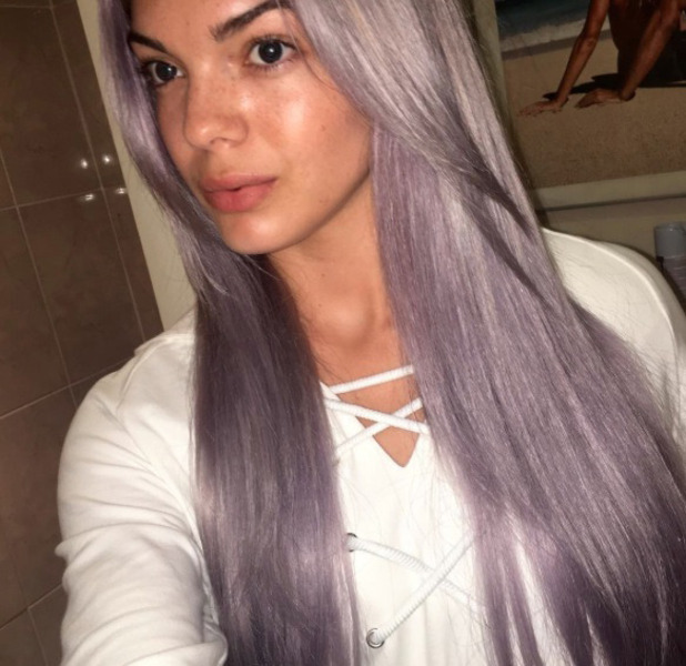 X Factor star Louisa Johnson shows off her new lilac hair, Instagram 31 August 2016