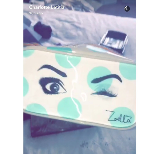 Former Geordie Shore star Charlotte Crosby shares a clip of her make-up haul on Snapchat, Zoella, 31 August 2016