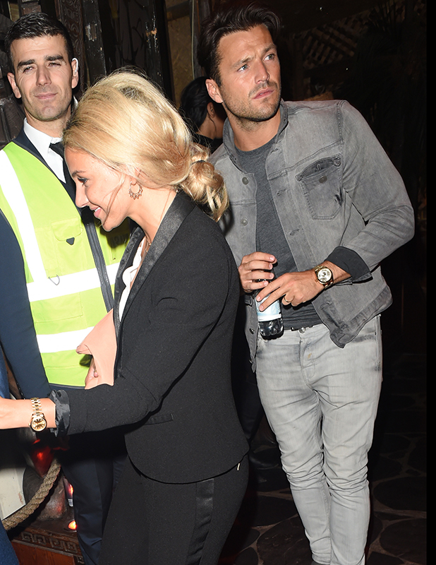 Mark Wright and Michelle Keegan seen leaving Mahiki nightclub in London together after a night out 1 September 2016