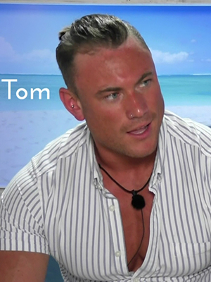 Tom Powell, a contestant on ITV reality series 'Love Island'. Broadcast on ITV2 HD.