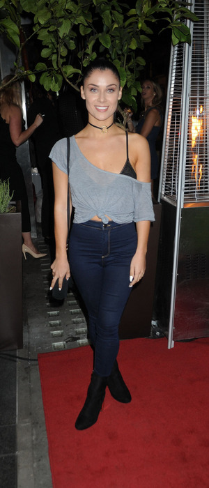 Love Island star Cally Jane Beech at the QP Salon launch party in London, 6th September 2016