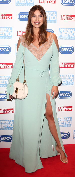 Former TOWIE star Ferne McCann attends the Animal Hero Awards, London, 7 September 2016