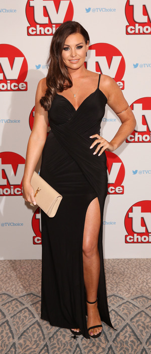 Former TOWIE star Jessica Wright at the TV Choice Awards, The Dorchester Hotel, London, 5 September