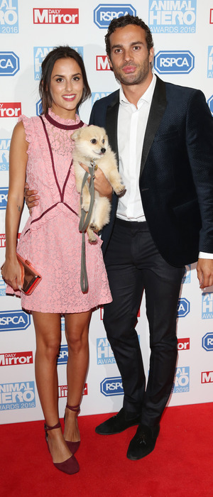 Made In Chelsea stars James Dunmore and girlfriend Lucy Watson at the Animal Hero Awards in London 7 September 2016