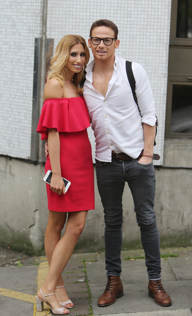 Stacey Solomon and Joe Swash outside ITV Studios, August 1st 2016