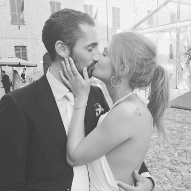Millie Mackintosh and Hugo Taylor kiss at pal's wedding, September 5 2016