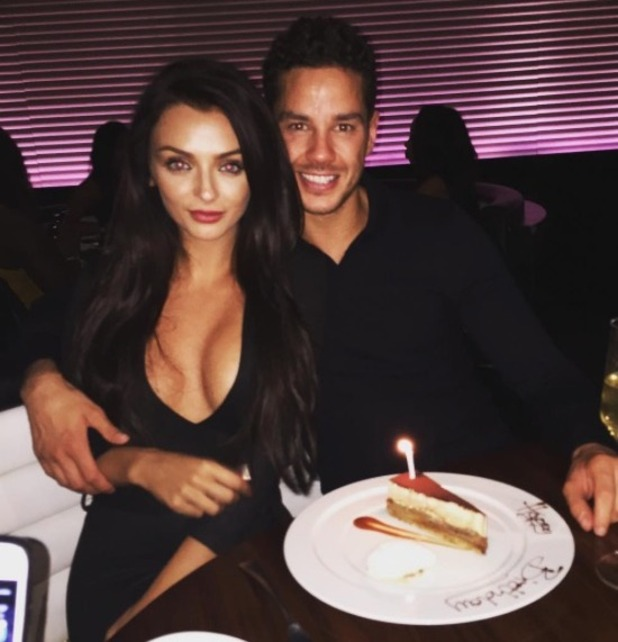 Kady McDermott and Scott Thomas enjoy a meal for her 21st - 6 Sep 2016