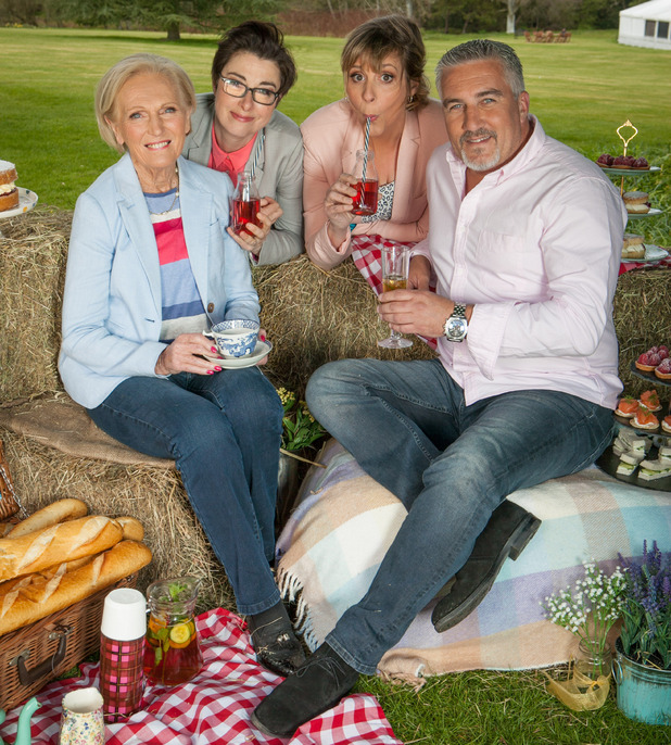 The Great British Bake Off, Mel, Sue, Mary and Paul, Wed 14 Sep