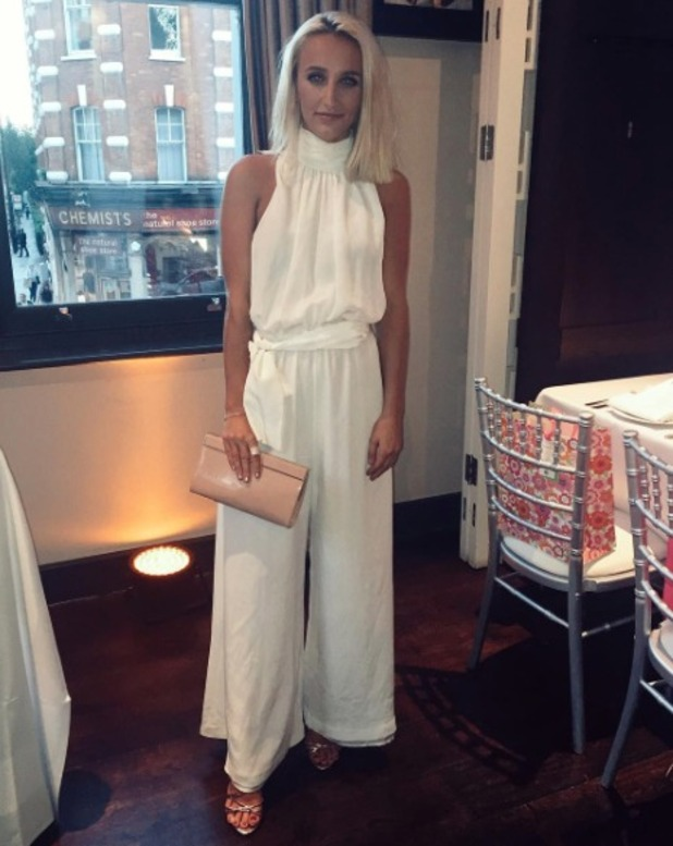 Tiffany Watson in all-white for a charity dinner