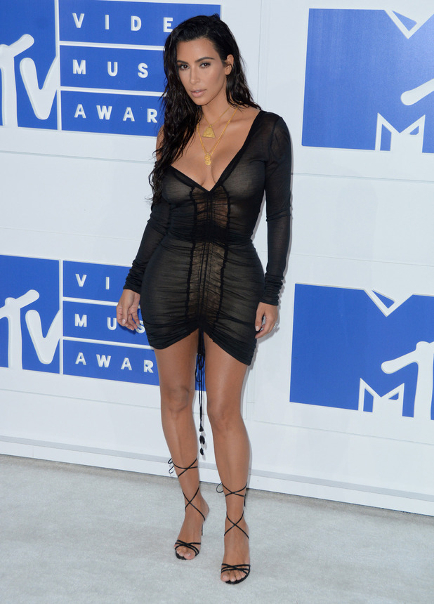 Kim Kardashian at the VMAs in New York, 8/29/2016