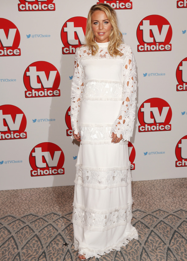 TOWIE star Lydia Bright at the TV Choice Awards, The Dorchester Hotel, London, 5 September