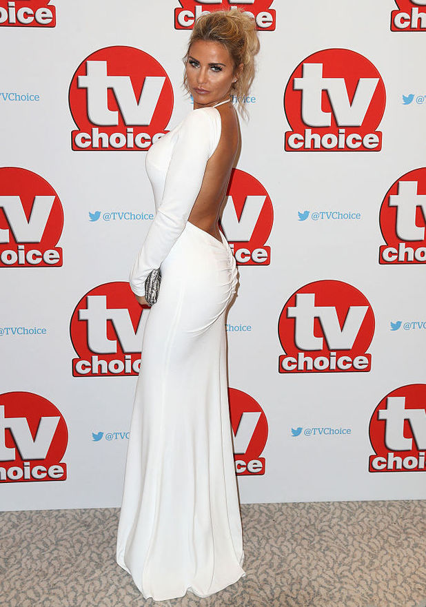 Katie Price arrives for the TV Choice Awards at The Dorchester on September 5, 2016 in London, England. (Photo by Chris Jackson/Getty Images)