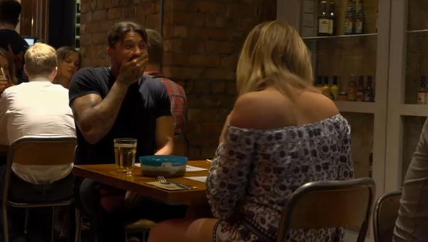 Charlotte Crosby brings gravy on date Celebs Go Dating 8 Sept 2016