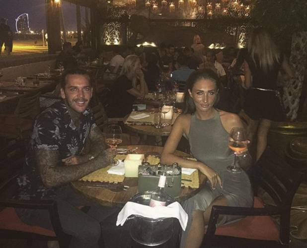 Megan McKenna and Pete Wicks in Barcelona, 4 September 2016