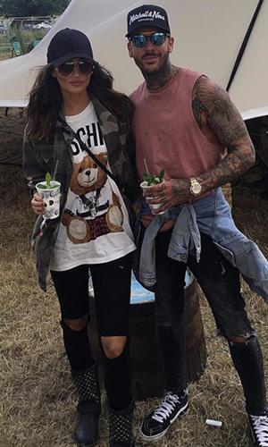 Megan McKenna and Pete Wicks at V Festival Sept 2016