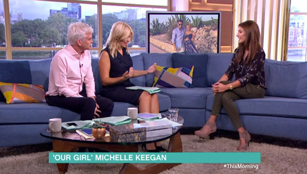 Michelle Keegan on This Morning 7 Sept 2016