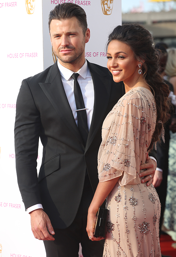 The British Academy Television Awards (BAFTAs) 2016 held at the Royal Festival Hall - Arrivals Michelle Keegan and Mark Wright