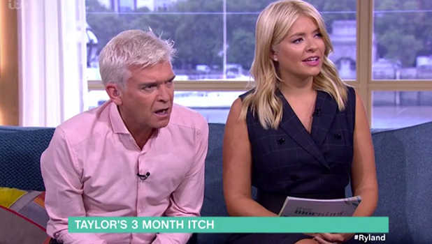 This Morning: Rylan discusses Taylor Swift and Tom Hiddleston split rumours with Phillip Schofield and Holly Willoughby 7 Sept 2016