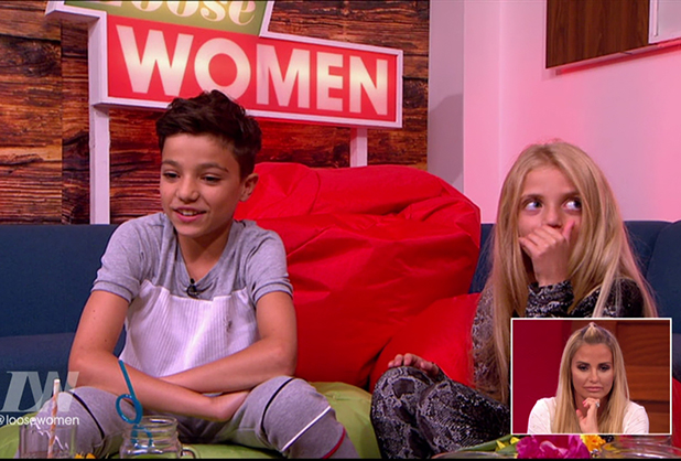 Katie Price's son Junior talks on 'Loose Women'. Broadcast on ITV1HD