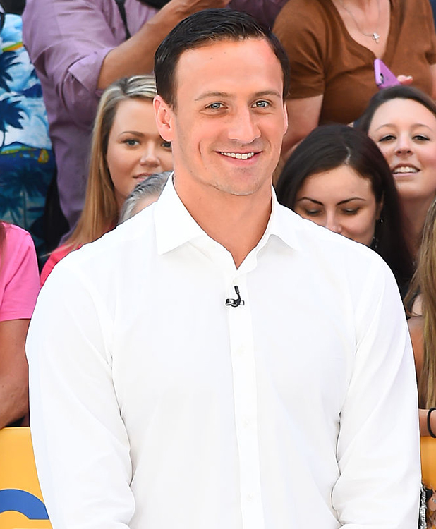 yan Lochte is seen on the set of 'Good Morning America'on August 30 2016 in New York City. (Photo by Raymond Hall/GC Images)