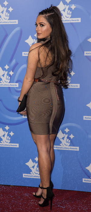 The Only Way Is Essex's Courtney Green attends the National Lottery Awards in London, 9 September 2016