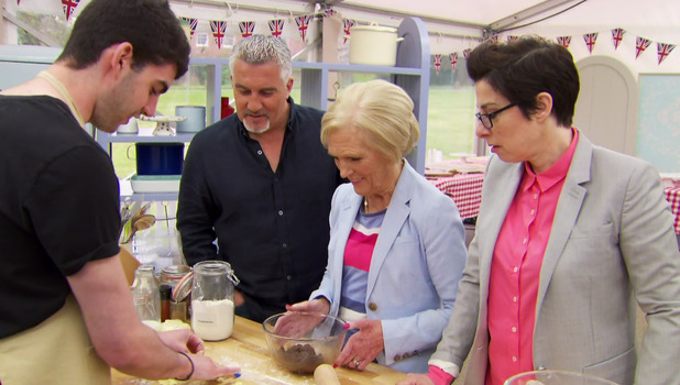 Great British Bake Off: Paul Hollywood, Mary Berry and Sue Perkins 7 September