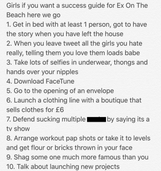 Scotty T's guide for girls to be successful from Ex On The Beach 15 September