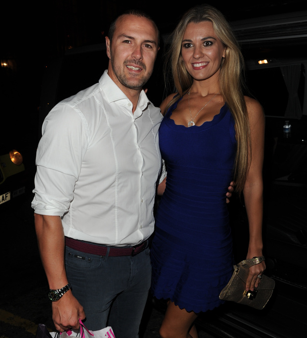 Paddy McGuinness and his wife Christine Martin leave Rosso restaurant in Manchester after celebrating Paddy's birthday - 15 Aug 2015
