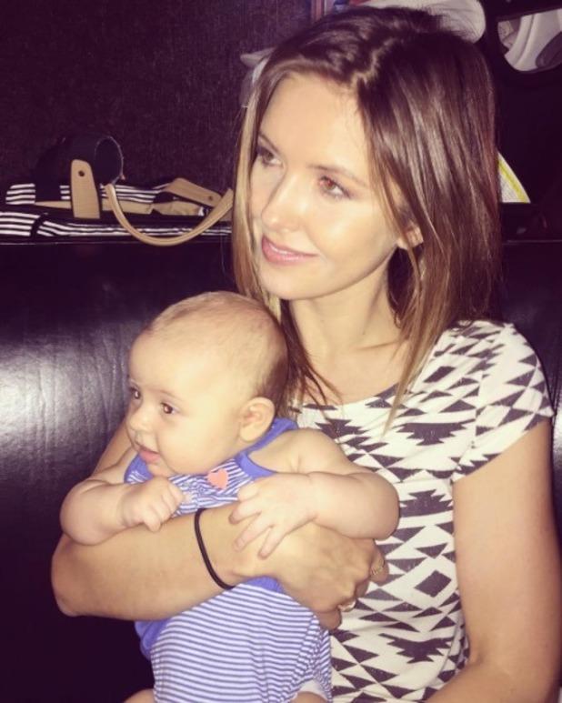 Audrina Patridge pictured with daughter Kirra - 12 Sep 2016