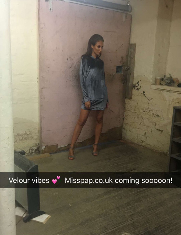 The Only Way Is Essex's Megan McKenna teases her Miss Pap range on Snapchat, 15 September 2016