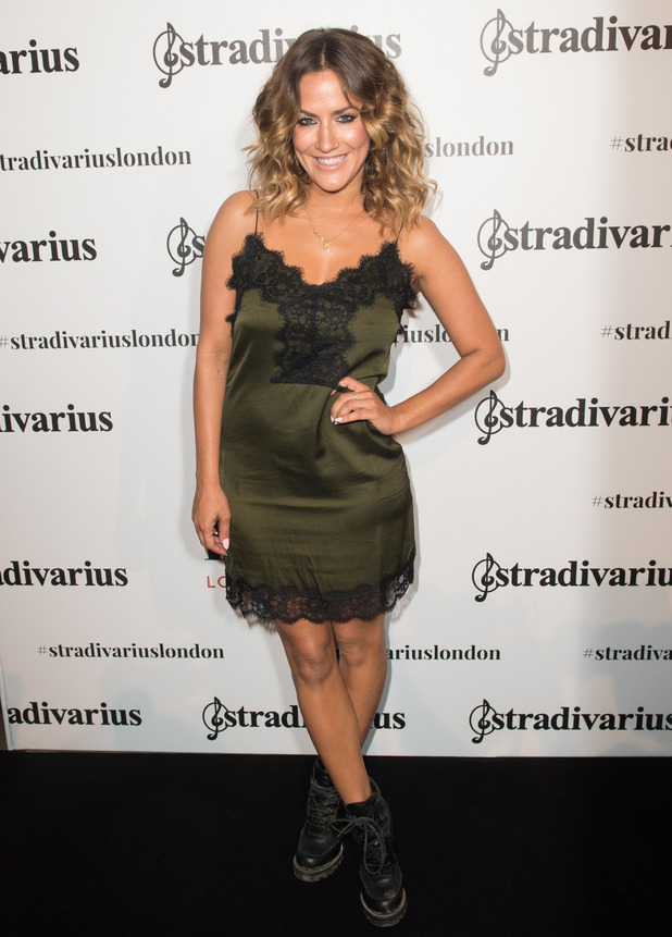 Love Island presenter Caroline Flack at the Stradivarius store opening in London, 15 September 2016