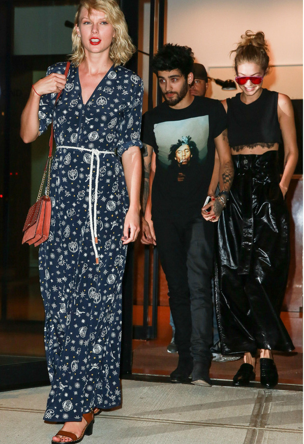 Taylor Swift, Gigi Hadid, Zayn Malik in New York City 12 September 2016