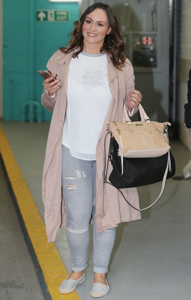 Chanelle Hayes outside ITV studios - 25 April 2016