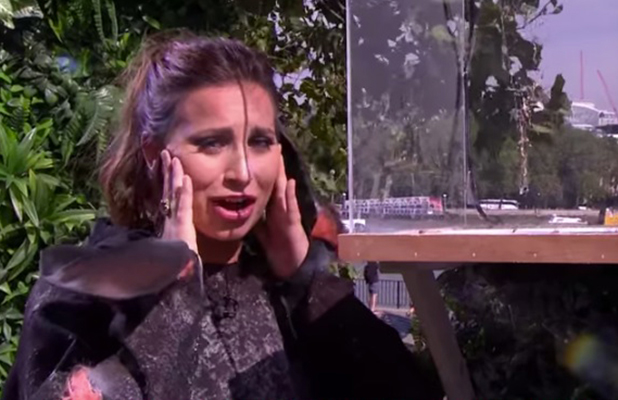 Ferne McCann tries to do a spider challenge on This Morning Sept 2016