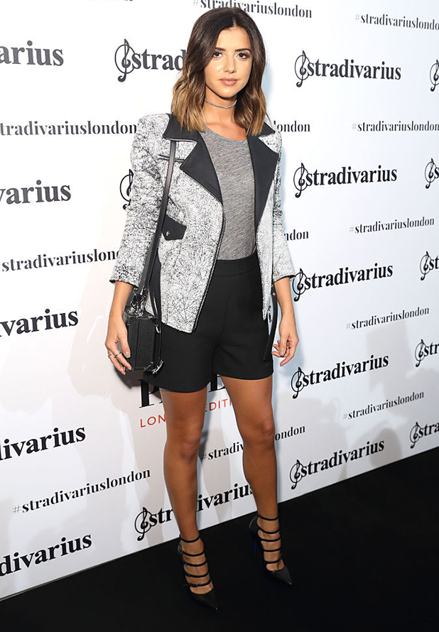 Lucy Mecklenburgh attends the Stradivarius Oxford Street store launch party on September 15, 2016 in London, England. (Photo by Mike Marsland/Mike Marsland/WireImage)