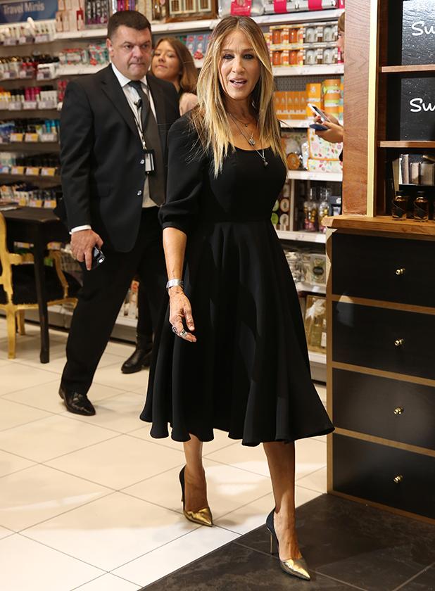 Sarah Jessica Parker launches her new fragrance 'Stash' at Superdrug, Westfield 14 Sept 2016