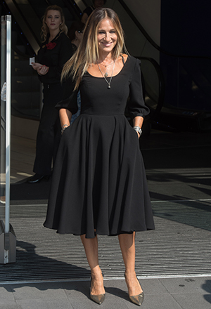 Sarah Jessica Parker customer meet and greet at Boots Piccadilly. 14 Sept 2016