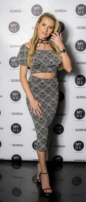 TOWIE's Georgia Kousoulou at her By Georgia K launch party, London, 20 September 2016