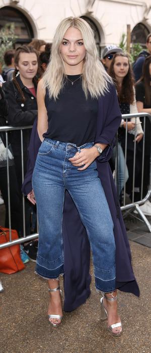 X Factor winner Louisa Johnson attends the Topshop Unique show, London Fashion Week, 18 September 2016