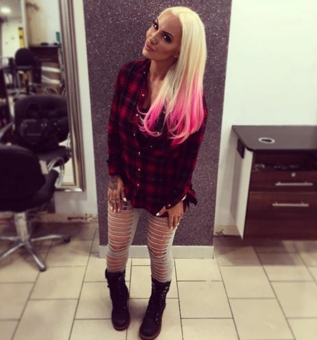Jodie Marsh dyes her hair pink, Instagram, 20 September 2016